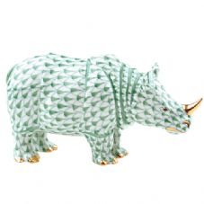 Herend Porcelain Fishnet Figurine of a Rhino